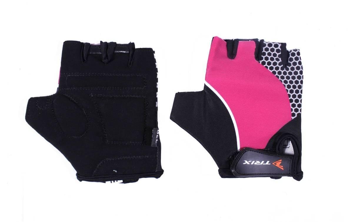 Велоперчатки TRIX LCL-K-65108-PINK, подростковые, розовый