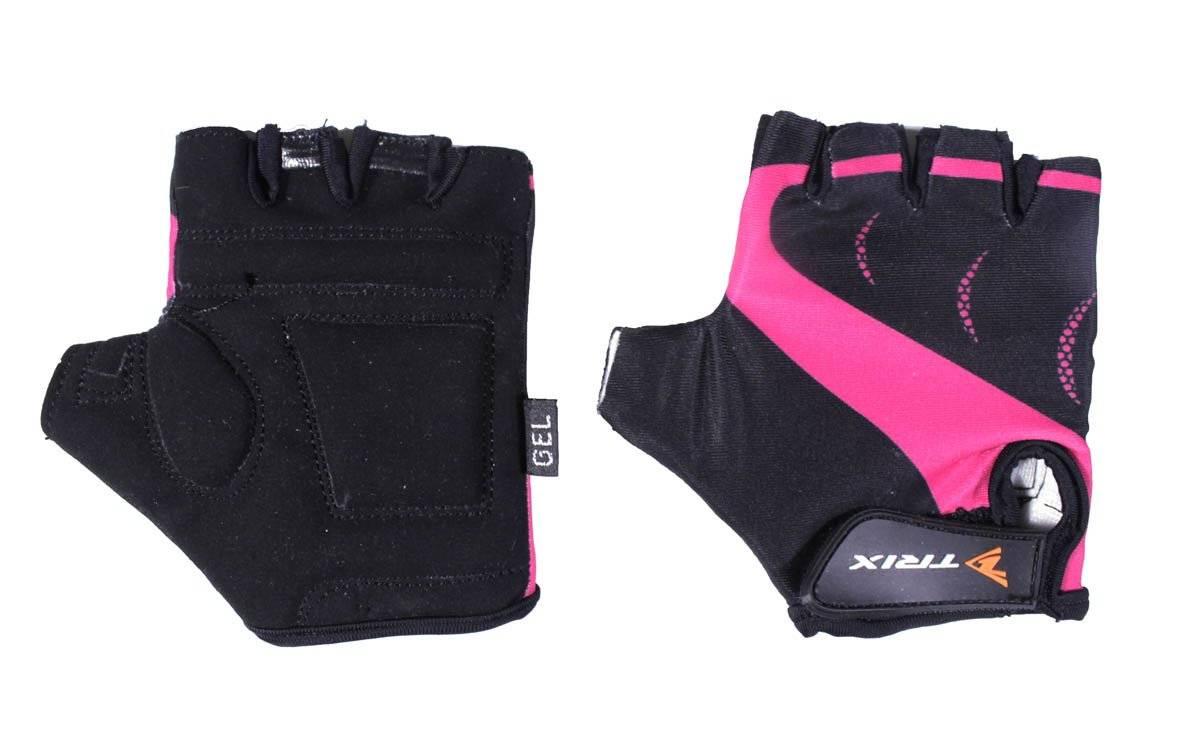 Велоперчатки TRIX LCL-K-65109-PINK, подростковые, розовый