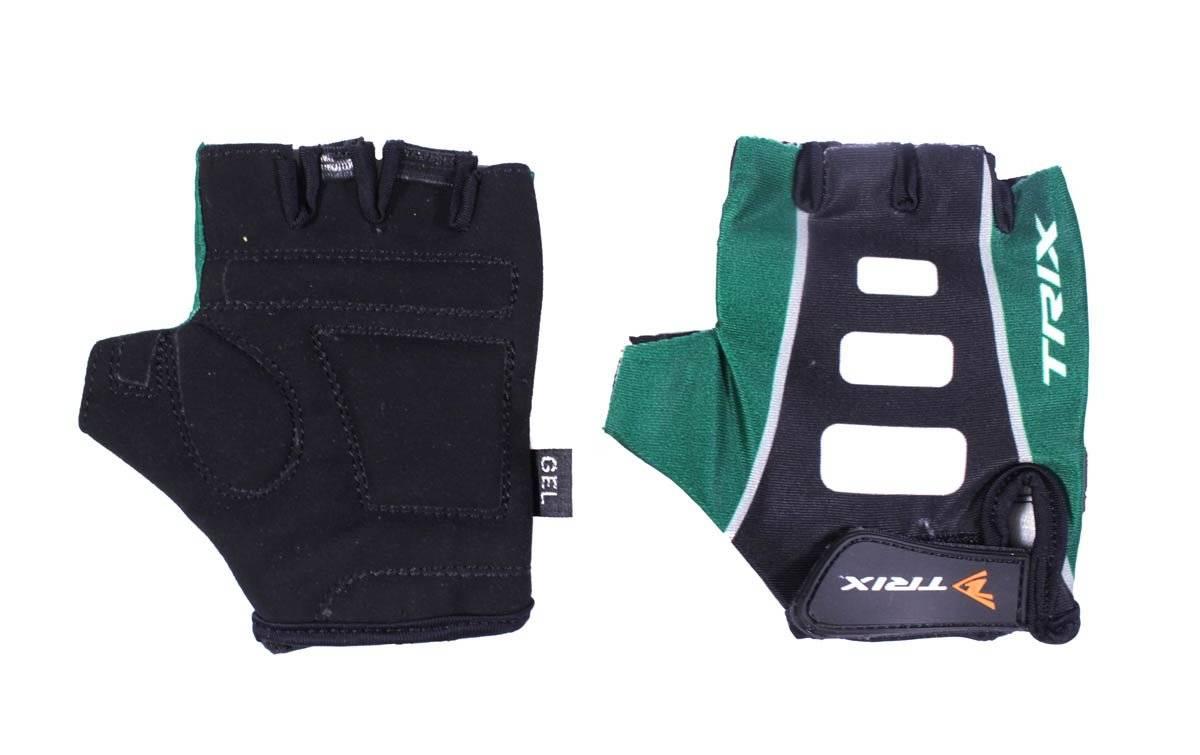 Велоперчатки TRIX LCL-K-65110-GREEN, подростковые, зеленый