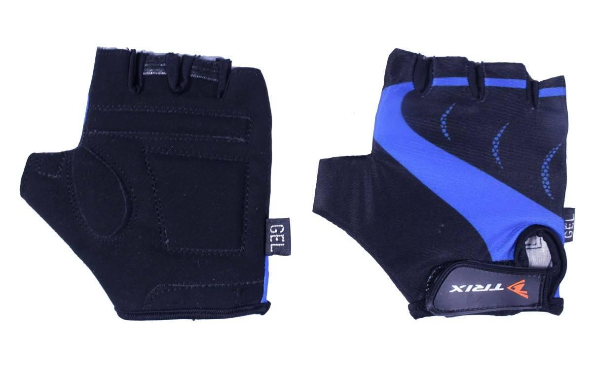 Велоперчатки TRIX LCL-K-65109-BLUE, подростковые, синий