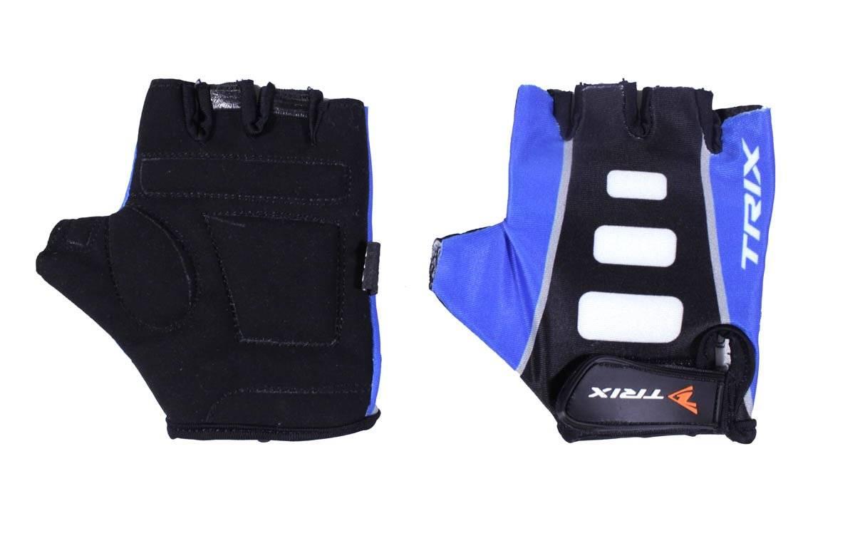 Велоперчатки TRIX LCL-K-65110-BLUE, подростковые, синий