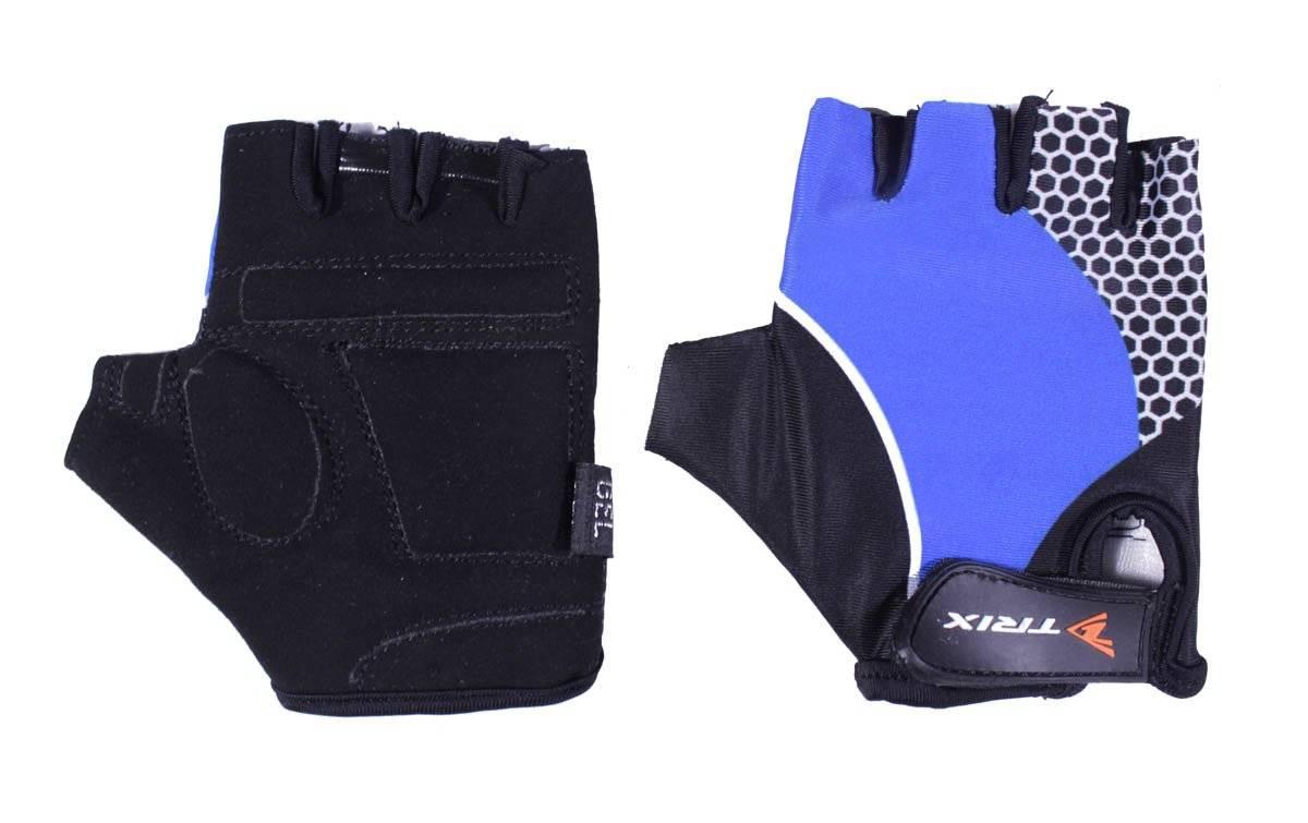Велоперчатки TRIX LCL-K-65108-BLUE, подростковые, синий