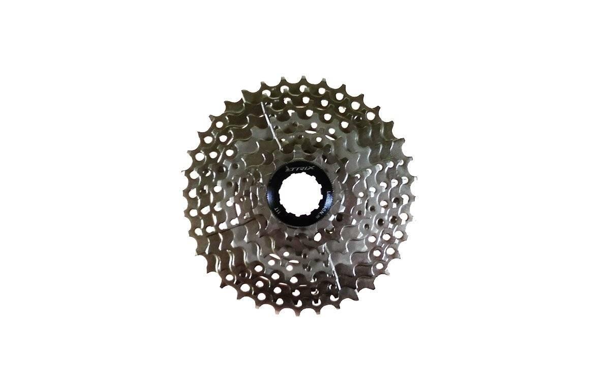 Кассета, 8 скоростей, зубья 12-36, сталь, хромированная, MTB-CS-8-36