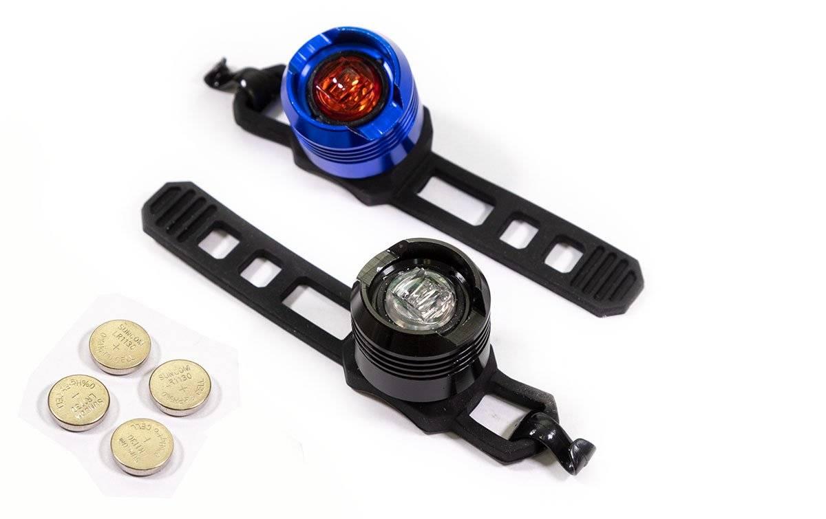 Фото - Фонарь велосипедный TRIX, габаритный (передний + задний) 1 диод, 2 режима, JY-3006 black/blue фонарь велосипедный trix задний 5 диодов 3 режима на подседельный штырь батареи ааа jy 603 t