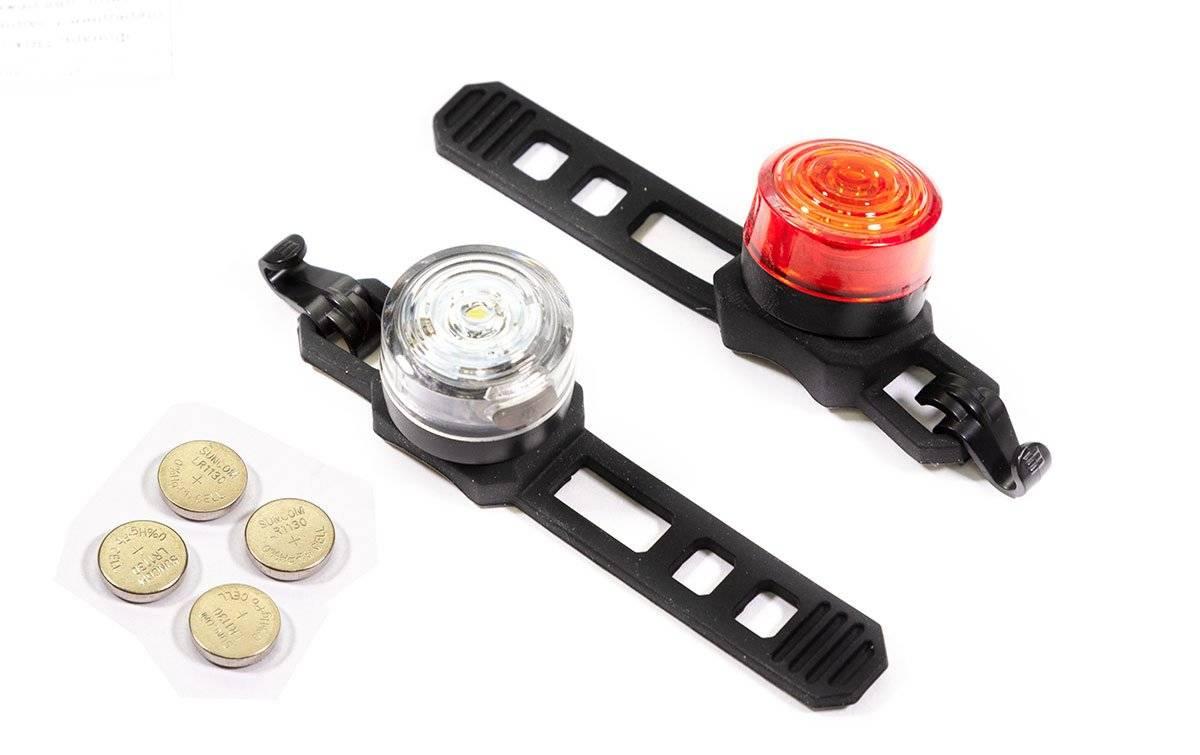 Фото - Фонарь велосипедный TRIX, габаритный (передний + задний) 1 диод, 2 режима, JY-6003 F+JY-6003 T фонарь велосипедный trix задний 5 диодов 3 режима на подседельный штырь батареи ааа jy 603 t