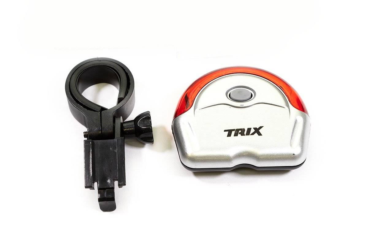 Фото - Фонарь велосипедный TRIX задний, 5 диодов, 2 режима, на подседельный штырь, батареи ААА, JY-154 R фонарь велосипедный trix задний 5 диодов 3 режима на подседельный штырь батареи ааа jy 603 t