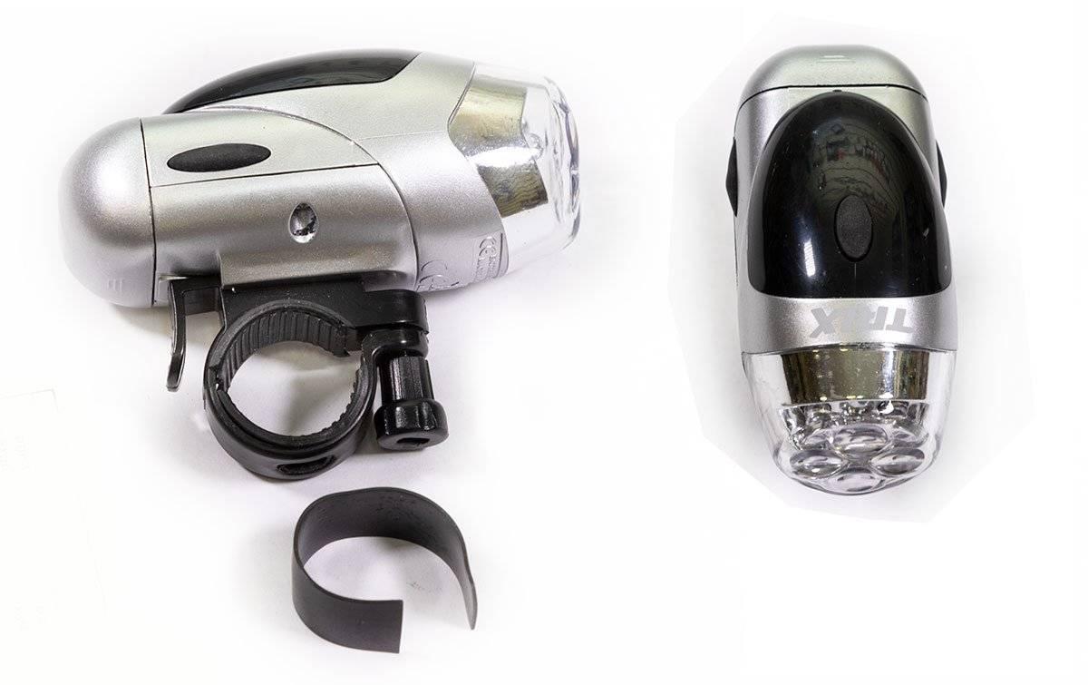 Фото - Фара велосипедная TRIX передняя, 4 диода, 4 режима, на руль, батареи ААА, JY-152 фонарь велосипедный trix задний 5 диодов 3 режима на подседельный штырь батареи ааа jy 603 t