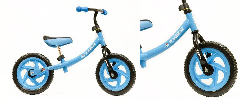 Беговел TRIX, диаметр колес: 12, рама сталь, голубой, CT-85 (голубой)
