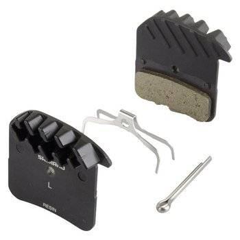 Тормозные колодки Shimano H03A, для дисковых тормозов, с радиатором, смола, пара, Y1XM98020