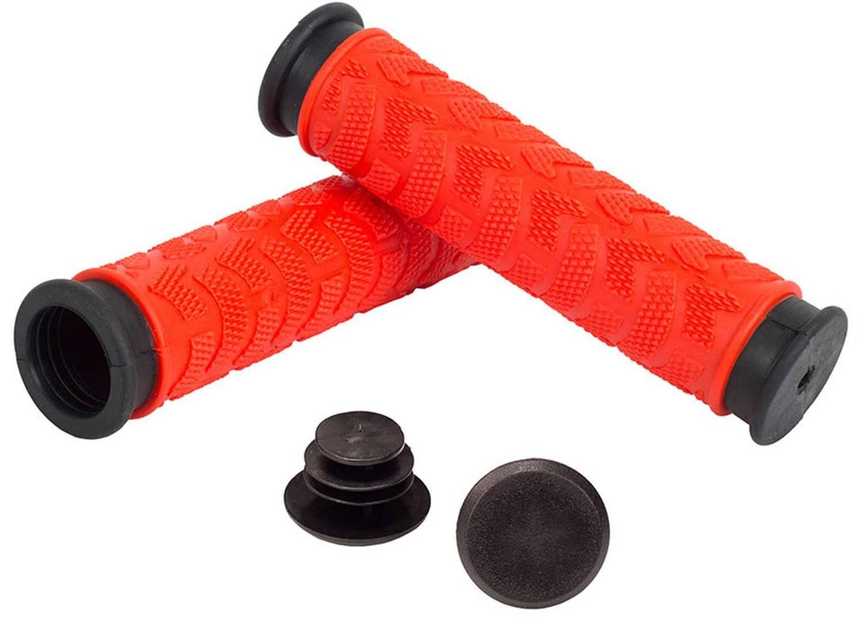 Грипсы Green Cycle GGR-009, 125 мм, черно-красные